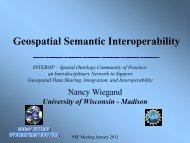 Geospatial Semantic Interoperability