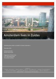 Table of contents - Bewonersplatform Zuidas