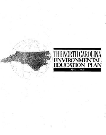 The North Carolina Environmental Education Plan - P2 InfoHouse