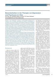 Besonderheiten in der Therapie von Depression und Psychosen im ...