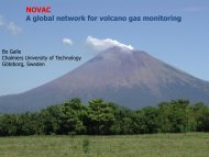 NOVAC A global network for volcano gas monitoring