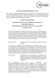 Entsprechenserklärung gemäß § 161 AktG Die ... - Drillisch AG