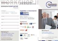 Workshop II - Wirtschaft und Stadtmarketing Pforzheim | WSP