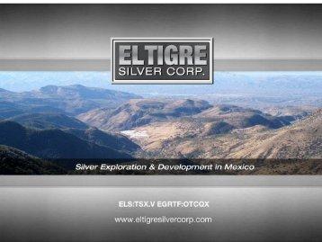 Disclaimer - EL TIGRE - Silver Corp