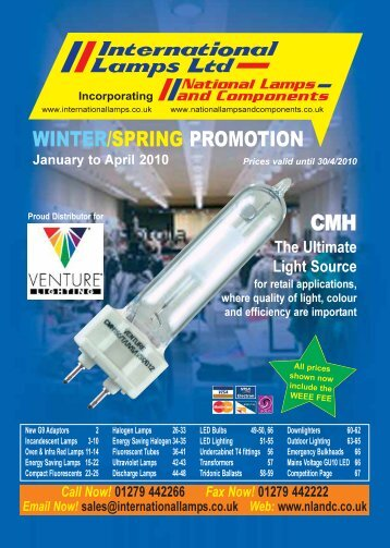 winter/spring promotion cmh - National Lamps and Components
