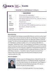 'AutoCAD' vs 'CAD-Measure' software - RICS Asia