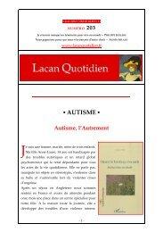 AUTISME - Lacan Quotidien