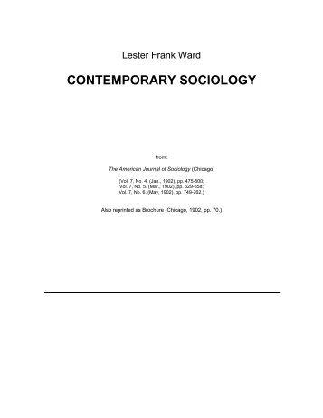 CONTEMPORARY SOCIOLOGY. - Faculty of Social Sciences
