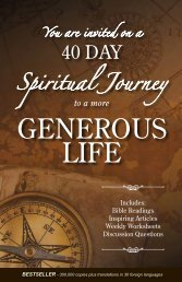 40 Day Generous Life Bible devotional - Kluth.org