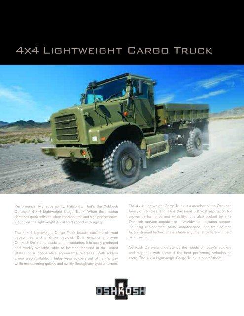 4x4 Lightweight Cargo Truck