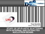 Study of dp-elastic scattering with internal and extracted ... - JINR