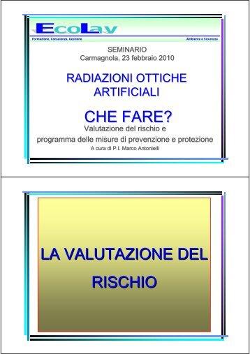 Radiazioni Ottiche Artificiali prevenzione e protezione