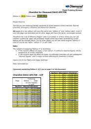 Checklist for Diamond DA42-GFC700 Checklist ... - Diamond Aircraft