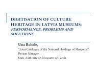 DIGITISATION OF CULTURE HERITAGE IN LATVIA ... - Academia