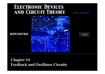 Chapter 14 Feedback and Oscillator Circuits - Webstaff.kmutt.ac.th