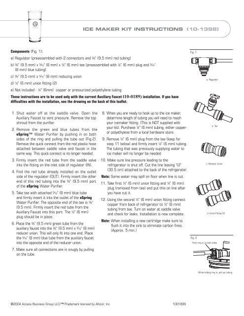ice maker hookup instructions