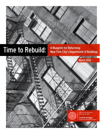 Time to Rebuild: - Manhattan Borough President