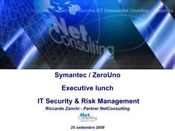 IT Security & Risk Management - ZeroUno