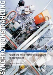 Forschung mit Synchrotronstrahlung in Deutschland 2009 - SNI-Portal
