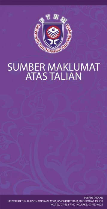 sumber maklumat atas talian - UTHM Library - Universiti Tun ...