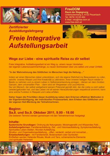 Freie Integrative Aufstellungsarbeit - FreeDOM