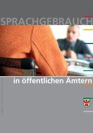 Sprachgebrauch in öffentlichen Ämtern