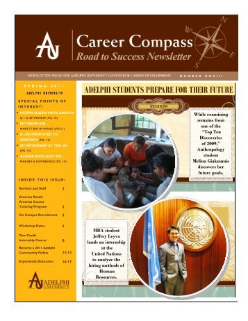 Career Compass Spring 2011 - Campus Life - Adelphi University