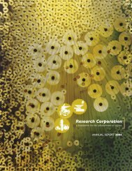 View PDF (5 MB) - Research Corporation