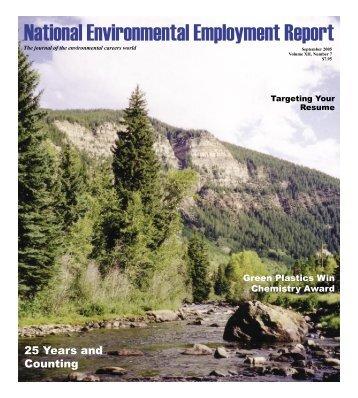 September 2005 National Environmental Employment Report