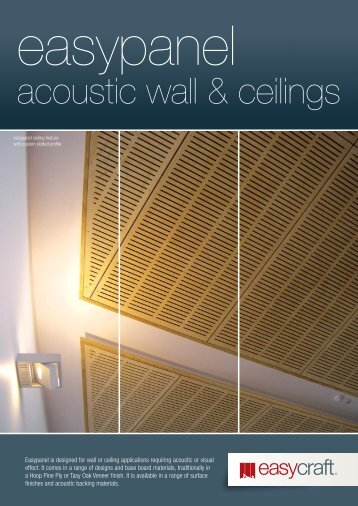 Easypanel Acoustic Wall and Ceilings Brochure - Trade Essentials