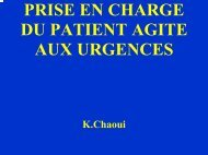 PRISE EN CHARGE DU PATIENT AGITE AUX URGENCES