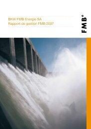 BKW FMB Energie SA Rapport de gestion FMB 2007