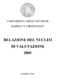 Relazione del Nucleo di Valutazione anno 2005 - Università degli ...