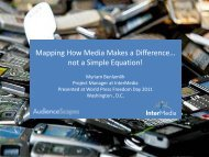 Mapping How Media Makes a Difference… not a ... - AudienceScapes