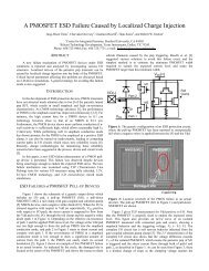 A PMOSFET ESD Failure Caused by Localized Charge - Stanford ...