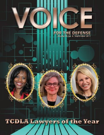 TCDLA Lawyers of the Year - Voice For The Defense Online