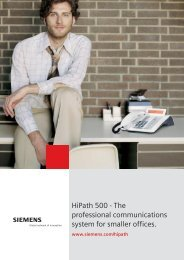 HiPath 500 - The professional communications system for smaller ...