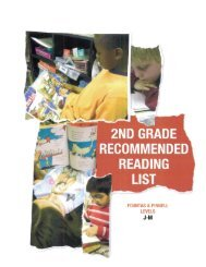 2ND GRADE . RECOMMENDED READING LIST