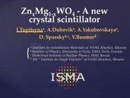ZnxMg1-xWO4 - A new crystal scintillator