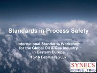 Standards in Process Safety