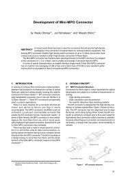 Development of Mini-MPO Connector