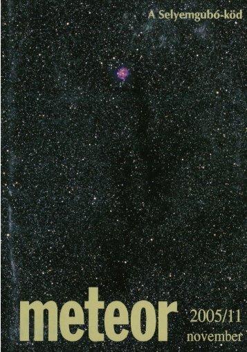 Page 1 Page 2 Page 3 meteor A Magyar Csillagászati Egyesület ...