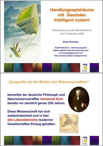 Vortrag an der UNI Paderborn - Stadt Paderborn