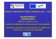 Projekt Comenius - partnerství škol - prezentace modulu 1 a 2