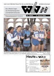 Ausgabe 01 - Württembergischer Leichtathletikverband