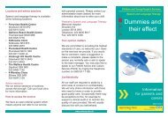 Dummies and their effect leaflet