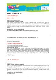 Montag, 18. Februar ´13 - Schools at University for Climate and Energy