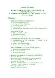 responsabilidad en el ejercicio de la función pública y el proceso ...