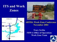 ITS and Work Zones - National Work Zone Safety Information ...