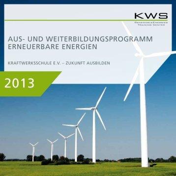 aus- und weiterbildungsprogramm erneuerbare energien